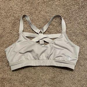 Puma strappy grey/tan sports bra